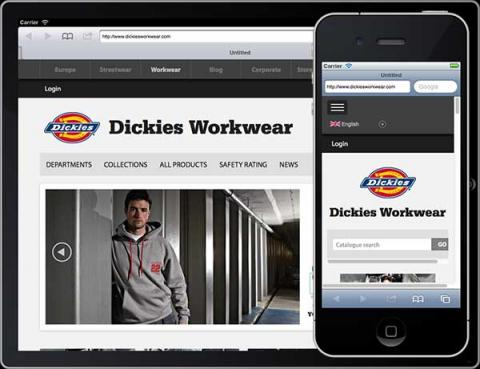Dickies Workwear - Online Catalogue responsive web site
