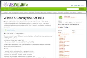 Species Protection Legislation