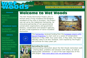 Wet Woods Restoration Project Website